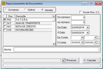 Quadro de reprocessamento de documentos.